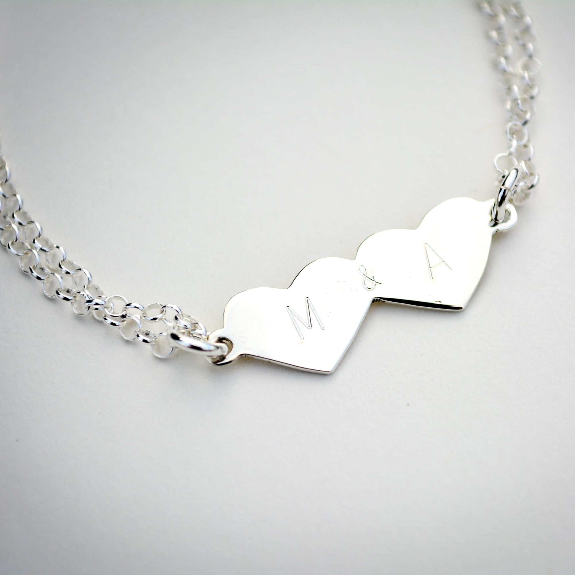 79413bf42e9e Doble Corazón con Iniciales - Ornamento